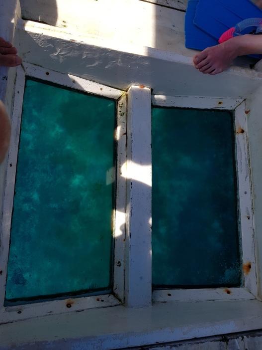 szklane dno łodzi